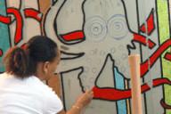 Mosaique de style art déco, réalisée par Rachel, artiste mosaiste