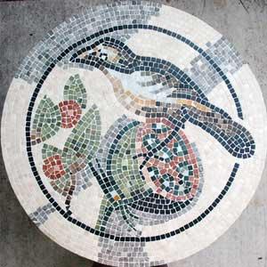 plateau table bistrot en mosaique