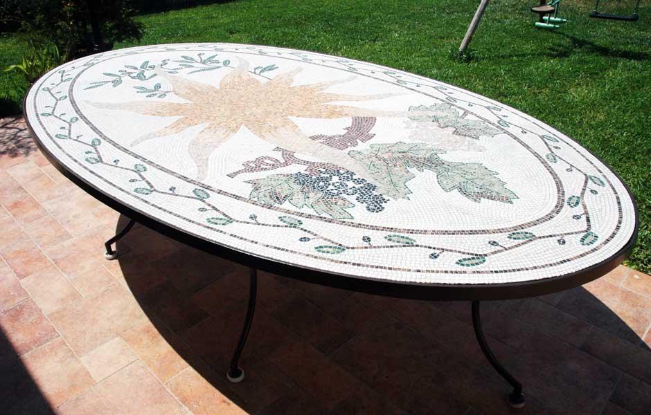 Plateau de table mosaique réalisée par mosaiste d\'art: du ...