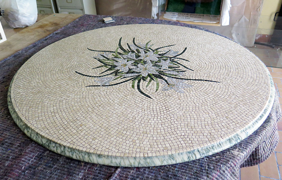 Table mosaïque pour jardin - fabrication sur mesure par ...