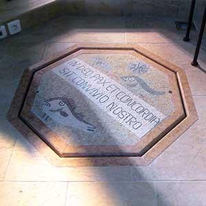 baptistere mosaique romaine pax et concordia