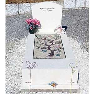 mosaique pour pierre tombale