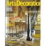 Article sur les décors en mosaique de Rachel sur le magazine Art & Décoration