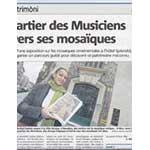 Article sur l'exposition de mosaique Art-Déco par Nice-Matin du 10 avril 2014