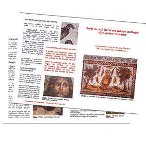 histoire et technique de la mosaique