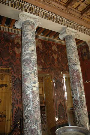 colonnes de marbre de saravezza