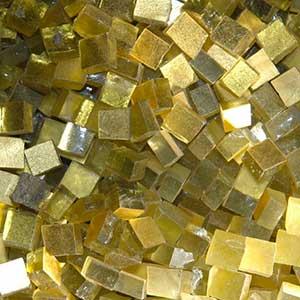 mosaique avec smalts en or